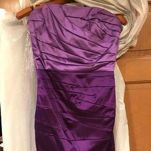 Two Tone Purple Dress by Bebe